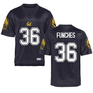 Men's Alex Funches California Golden Bears Game Gold Navy Football College Jersey