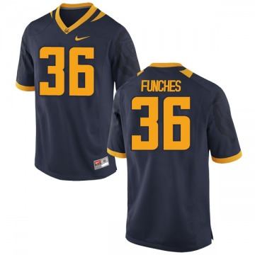 Men's Alex Funches California Golden Bears Nike Game Gold Navy Football College Jersey