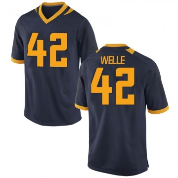 Men's Blake Welle California Golden Bears Nike Replica Gold Navy Football College Jersey