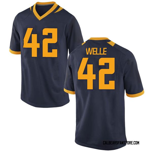 Men's Blake Welle California Golden Bears Nike Replica Gold Navy Football College Jersey