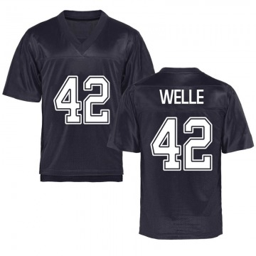 Men's Blake Welle California Golden Bears Replica Gold Navy Football College Jersey