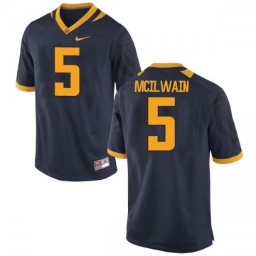 Men's Brandon McIlwain California Golden Bears Nike Game Gold Navy Football College Jersey