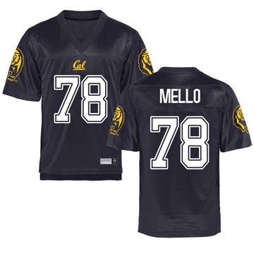 Men's Brandon Mello California Golden Bears Game Gold Navy Football College Jersey