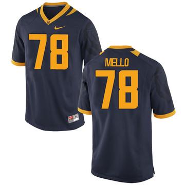 Men's Brandon Mello California Golden Bears Nike Replica Gold Navy Football College Jersey