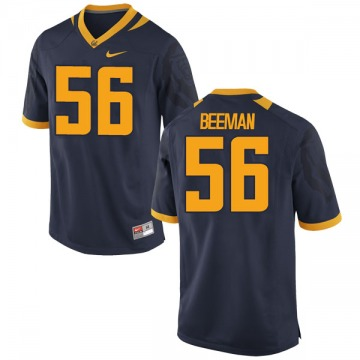 Men's Jack Beeman California Golden Bears Game Gold Navy Football College Jersey