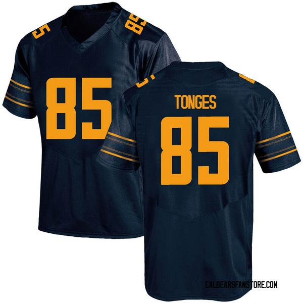 Men's Jake Tonges California Golden Bears Under Armour Replica Gold Navy Football College Jersey
