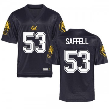 Men's Michael Saffell California Golden Bears Game Gold Navy Football College Jersey
