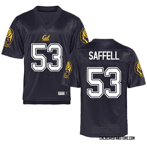 Men's Michael Saffell California Golden Bears Game Gold Navy Football College Jersey