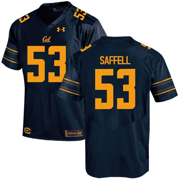 Men's Michael Saffell California Golden Bears Under Armour Replica Gold Navy Football College Jersey
