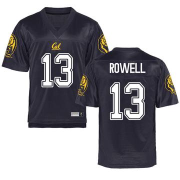 Men's Robby Rowell California Golden Bears Replica Gold Navy Football College Jersey