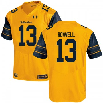 Men's Robby Rowell California Golden Bears Under Armour Game Gold Alternate Football College Jersey