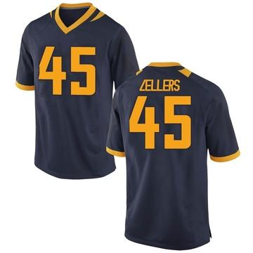 Men's Slater Zellers California Golden Bears Nike Replica Gold Navy Football College Jersey
