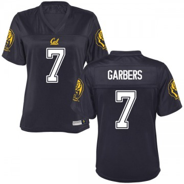 Women's Chase Garbers California Golden Bears Game Gold Navy Football College Jersey