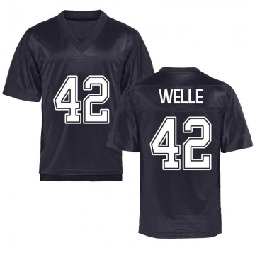 Youth Blake Welle California Golden Bears Replica Gold Navy Football College Jersey