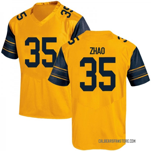 Youth James Zhao California Golden Bears Under Armour Replica Gold Alternate Football College Jersey