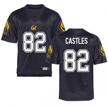 Youth McCallan Castles California Golden Bears Game Gold Navy Football College Jersey