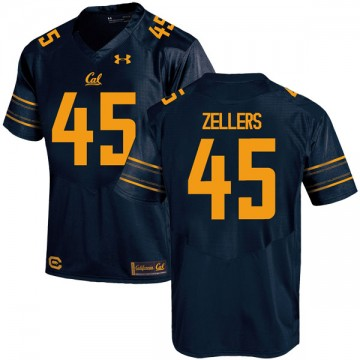 Youth Slater Zellers California Golden Bears Under Armour Replica Gold Navy Football College Jersey