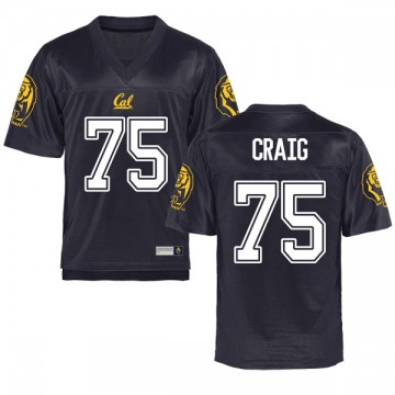 Youth Will Craig California Golden Bears Game Gold Navy Football College Jersey