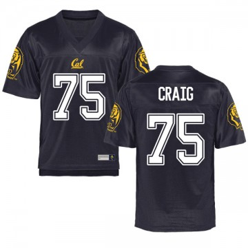 Youth Will Craig California Golden Bears Replica Gold Navy Football College Jersey
